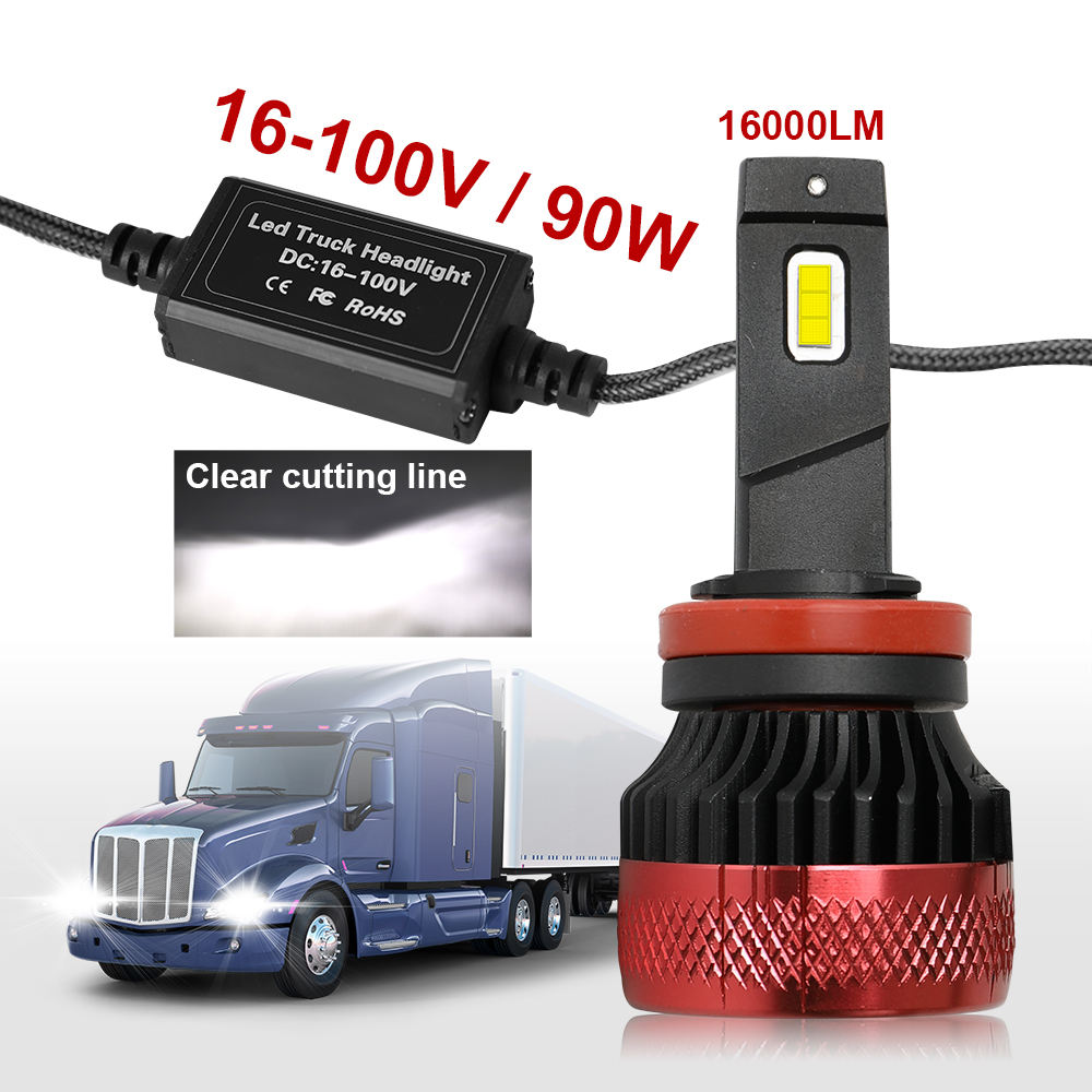 100ワットNew 20000 Lm 16V-100V Super Bright H1 H3 H4 H7 Canbus LED Head Lights、H1 H3 Auto R11 H7 H4 Truck Car Led Headlight