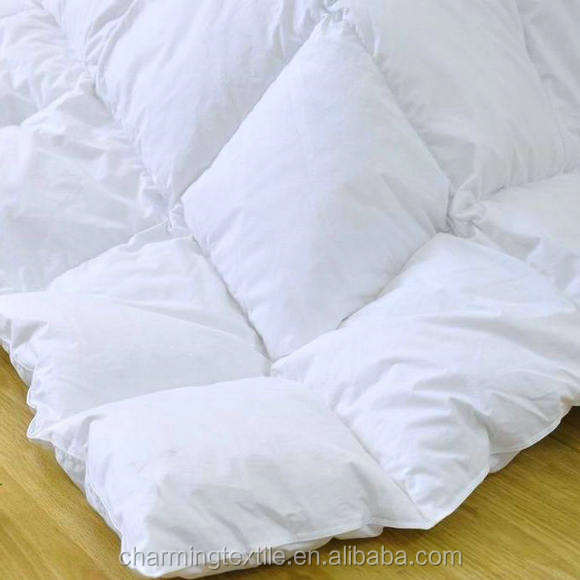 China Supplier Hotel 100% Cotton White Down Comforter Hot Sale Down No Quilting Quilt Duvet Cover