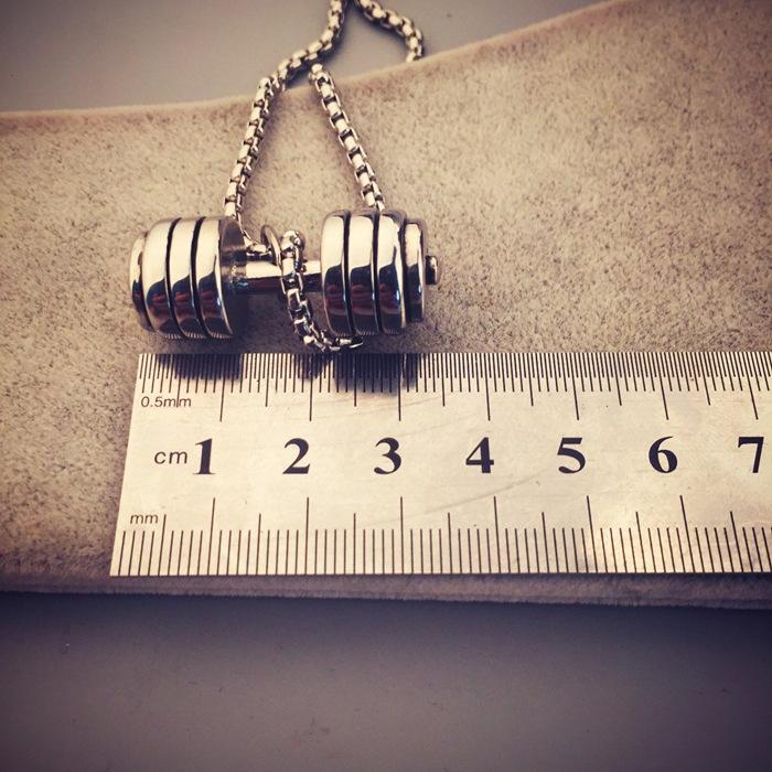 SAF alloy new Korean ins popular fashion friend couple wholesale Dumbbell Barbell necklace for gift
