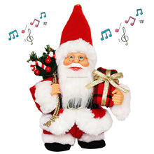 "7"" Inch Christmas Animated Walk Santa Claus with Music Dancing Standing decoration Figurine classical Holiday ornaments gifts"