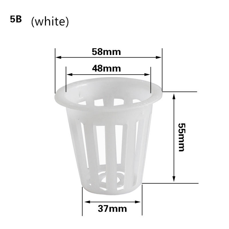 Garden Slotted Mesh Net Cups colors Net Pots Wide Lip Bucket Basket for Hydroponics growth supplier