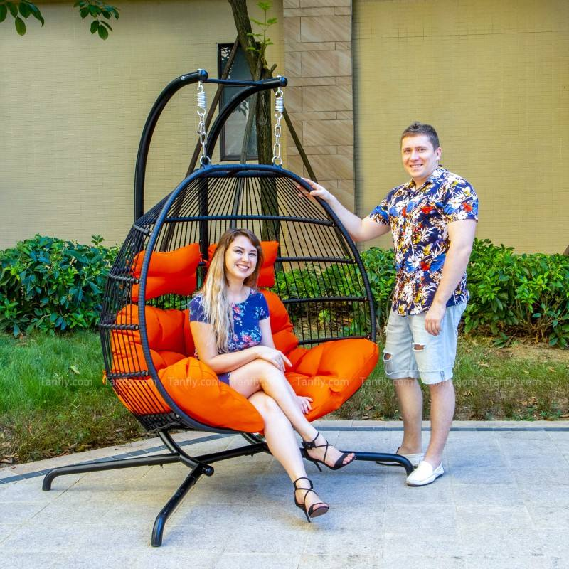 Egg Shape Hammock 2 Seater Garden Swing For Cheap Rattan Hanging Chair