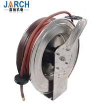 304 316 stainless steel spring retractable hose reel high pressure manual stainless steel cable reel