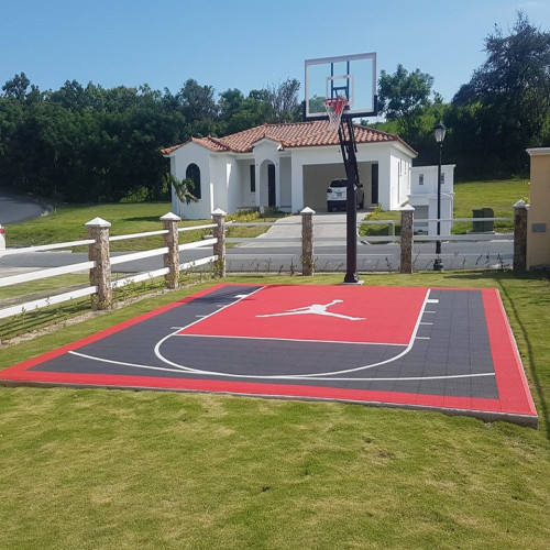 Sport Usage [ Basketball Flooring ] Outdoor Basketball Flooring 20x20 Feet DIY Outdoor Backyard Basketball Court Flooring For Sport Court Tiles