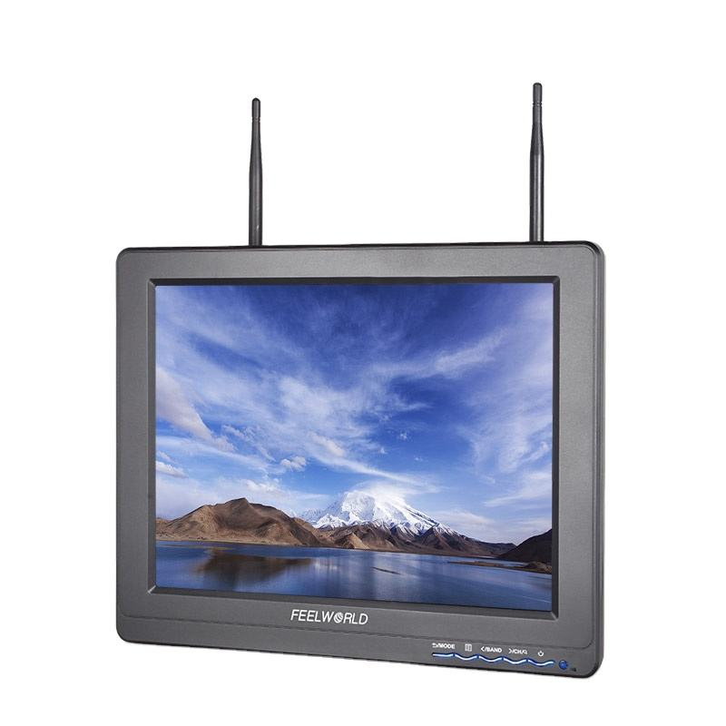 12.1inch 4:3 fpv monitor with 5.8ghz wireless camera and receiver hdmi rca inputs