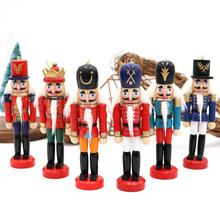 Ourwarm Free Shipping Wholesale 6 Pcs Christmas Tree Decoration Wooden Christmas Nutcrackers