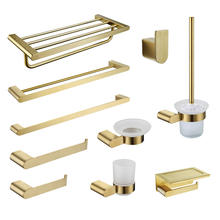 Brushed gold bathroom accessories stainless steel hardware 10 sets