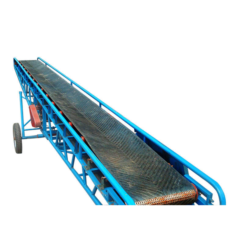 Top sale 50kg bags loading mobile hopper belt conveyor machine price for sand concrete