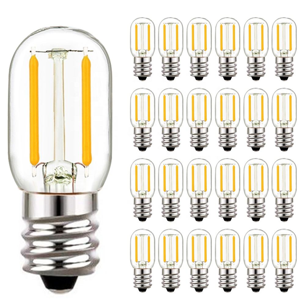 T20 12V 24V Glass 2700k Filament LED Bulbs Light Warm White Color Pendant Lights E27 Base Decoration For Room Home
