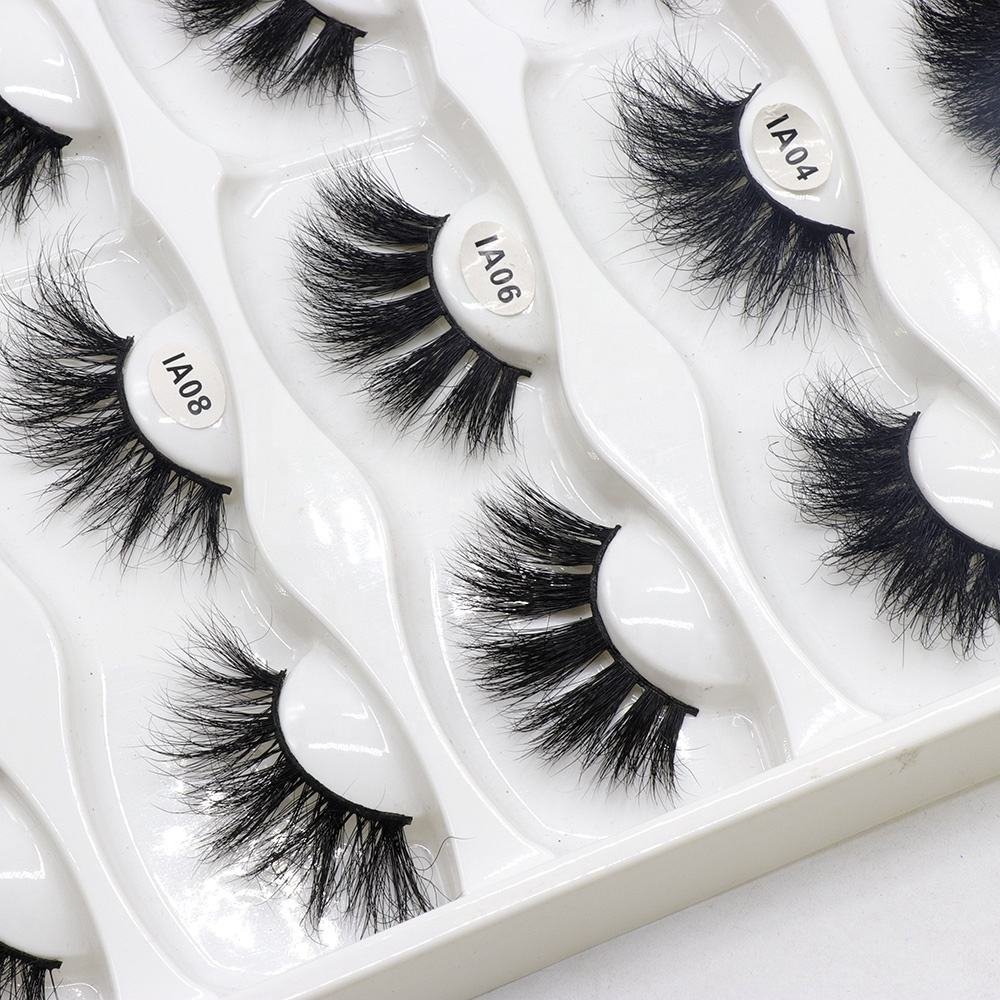 Luxury Flexible Clear Band Real Human Hair Wispy False Eyelash with Custom Glitter Box