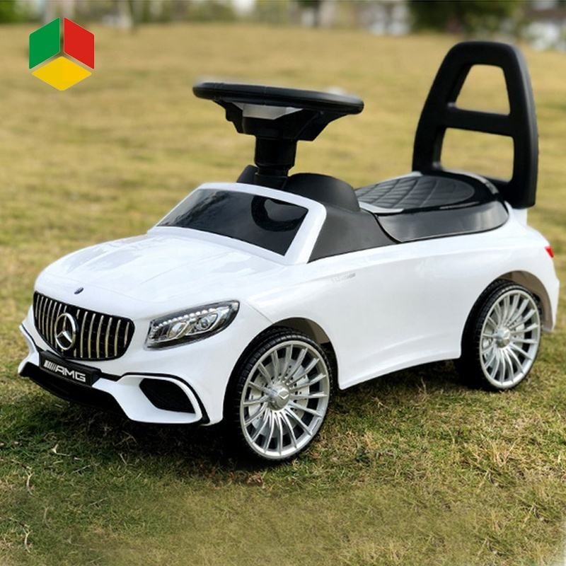 QS Toys 2021 New Licensed Benz Multifunction 4 Wheel Baby Walker Push Ride On Car Sliding For Toddlers