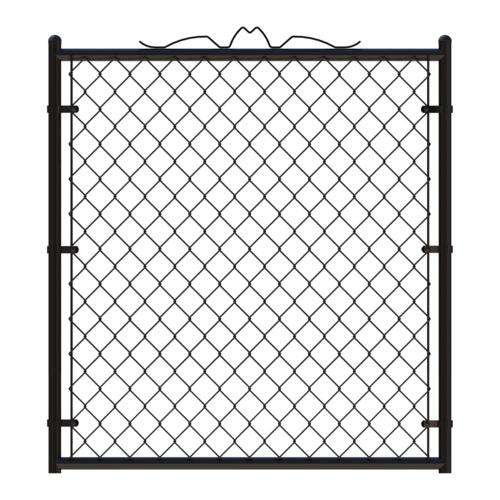 48 in. W x 48 in. H PVC Coated Residential Steel Welded Walk-Through Chain Link Fence Gate system Fence gate