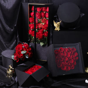 Tondo High Quality Premium Valentine's Day Luxury Gift Packing Boxes Mirrored flower luxury box