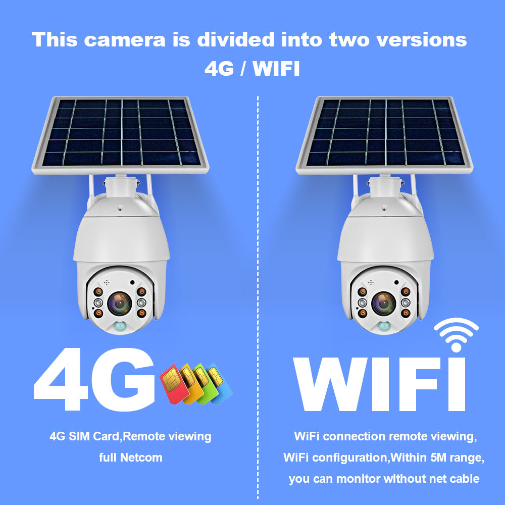 4g Camera Ptz Loosafe Smart Full Color Night Vision 1080P 4g Security Camera Ptz Solar Cctv With Sim Card Price