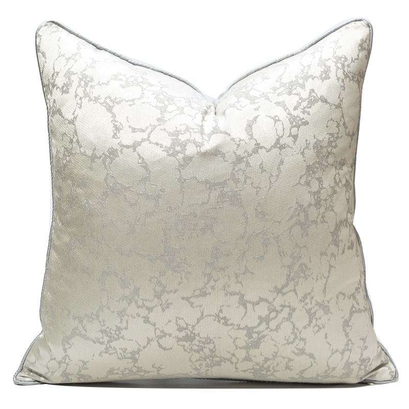 Fancy Greyish White Throw Pillow Covers Fluffy Cushion Cover For Interior Home Decoration 45*45CM 50*50CM