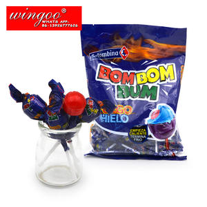 תות טעם 28g גדול bom בועת מסטיק מלא lollipop מקל