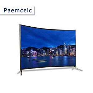 55 pollici LCD LED TV con a prova di Esplosione di vetro temperato struttura In Metallo FHD UHD Smart Curvo TV