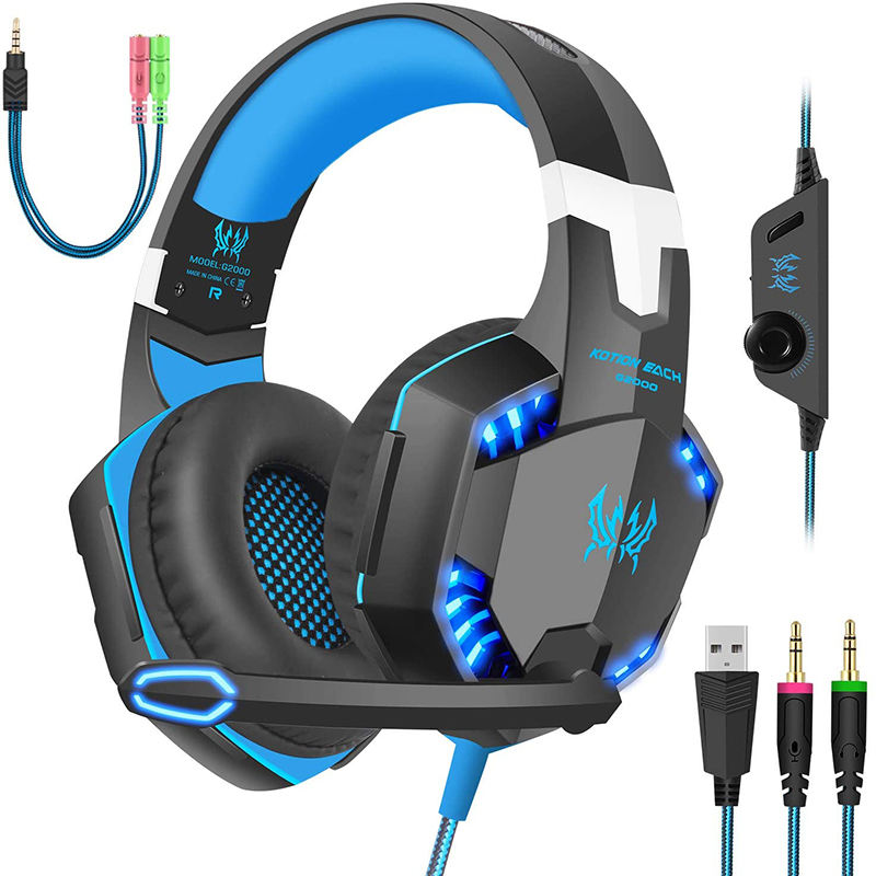Hohe <span class=keywords><strong>Qualität</strong></span> 7,1 Noise Cancelling Mikrofon barato RGB kotion audifonos gamer für PS4,PC