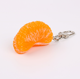 Fashion jewelry Lovely delicate Friedpoached egg Orange dumpling and strawberry Durian food keychain,