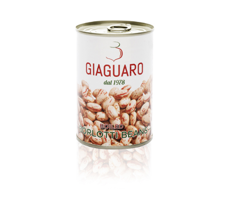 Borlotti cranberry beans in water and salt rehydrated - Size 24x400 grams