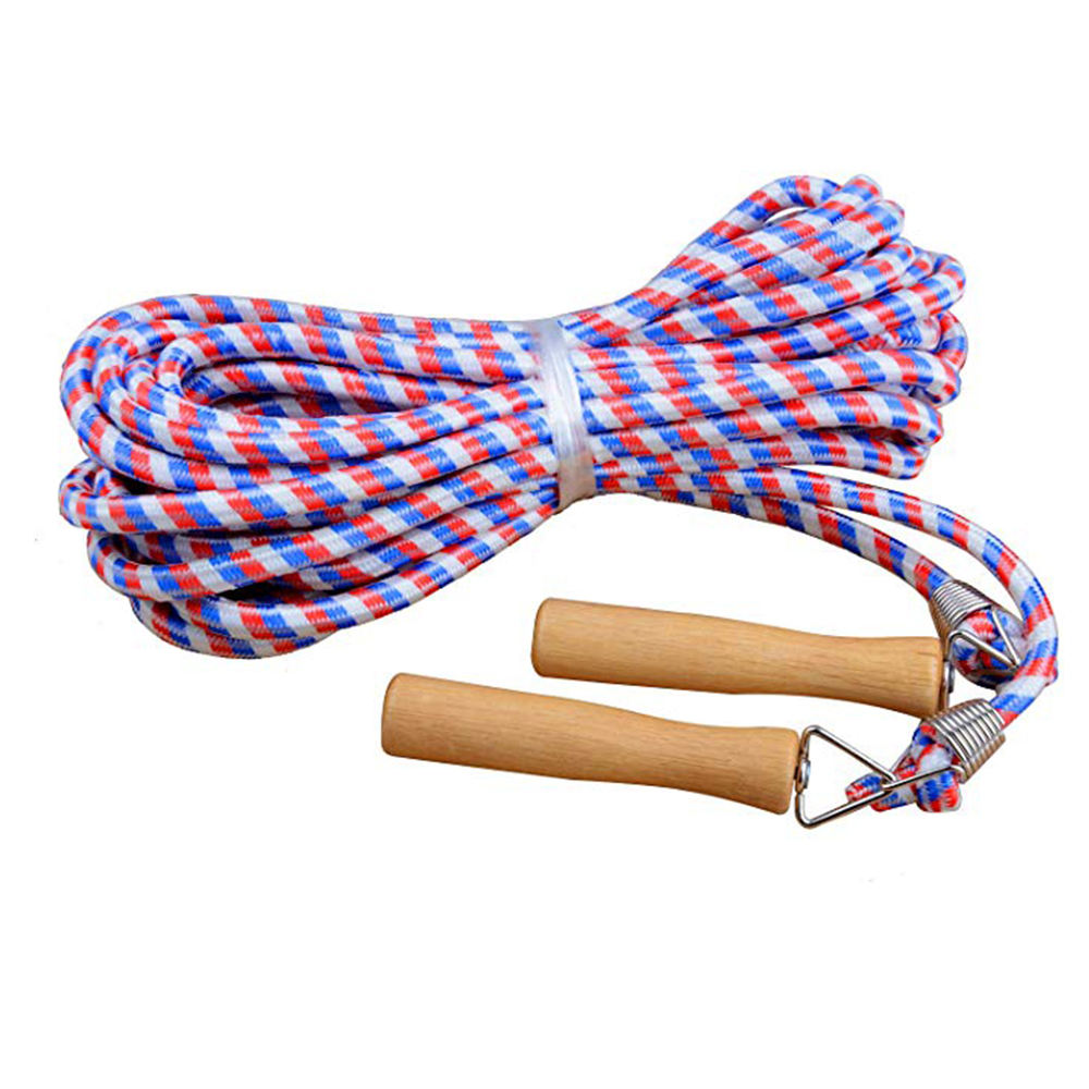 Fitness Group Jump Durable Skipping Rope Wooden Handles Outdoor Activity Exercise
