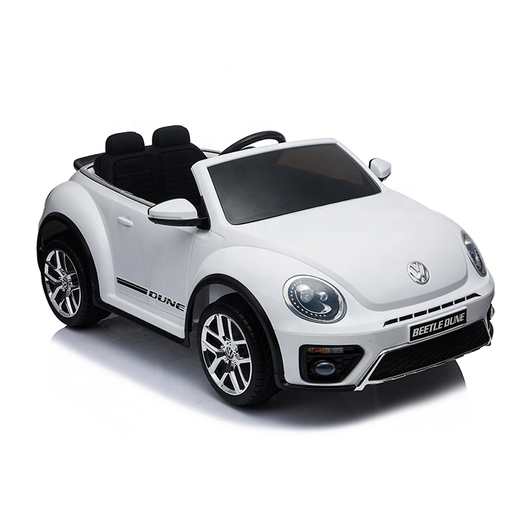 Cheapest hot selling licensed beetle toy ride on car 12v battery 2.4g remote control kids toy car and double seaters