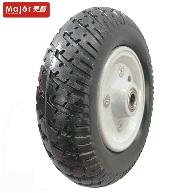 7 x 1.5 Inch Lawnmower Steel Wheel /& Solid PU Tyre 7 Diamond Tread Mower 7x1.5