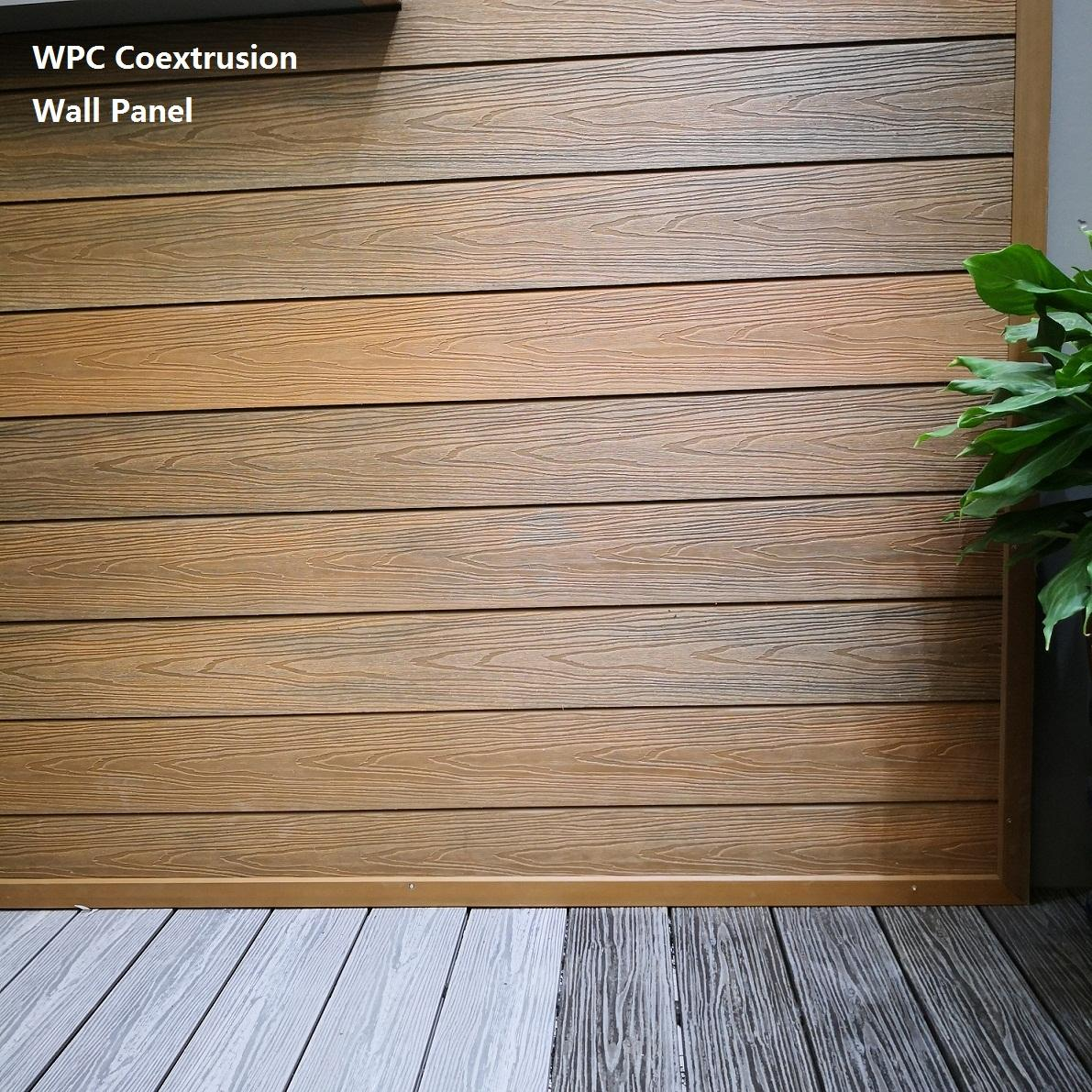house cladding exterior wall composite wood fence fireproof decorative wall panel exterior tile siding timber cladding green
