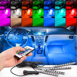 Car Interior RGB LED Strip Light with 24key remote control 4