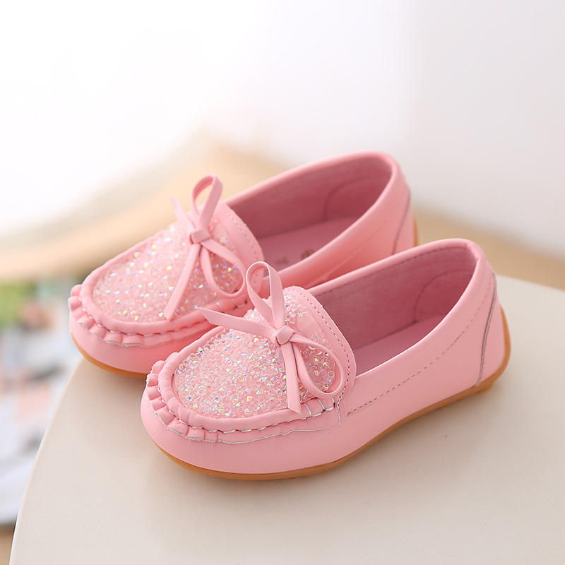 Hot-Sell cheap Children Baby Princess Kids fit Dance Bling Bling Girl flats casual Shoes