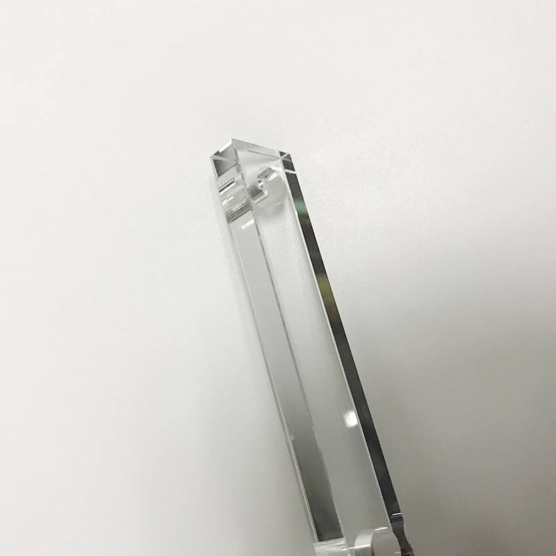 custom-made large 5mm sapphire hollow prism crystal glass right angle prism triangular