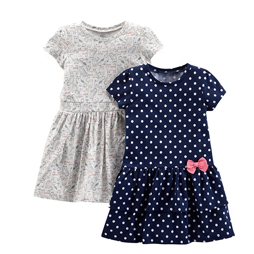 child dress, frock, baby summer clothes 100% cotton baby girl dresses designs for kids