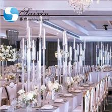 China supplier clear crystal wedding decoration centerpiece