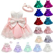 Hot sale latest design boutique bows christmas newborn baby girl birthday party dresses