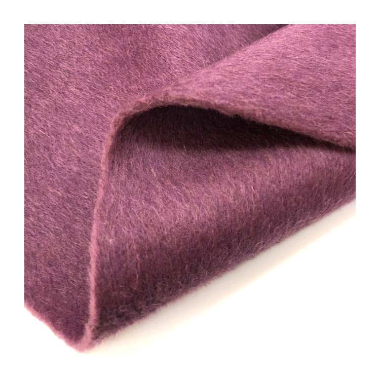 Alpaca angola wool blend woven yarn dyed double-faced fabric for high quality suit coats