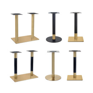 hot sale gold square round metal dining table base stainless steel table leg