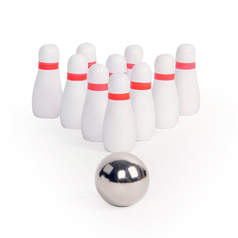Wholesale Wood Mini Bowling Ball Indoor Game for Kids and Adults