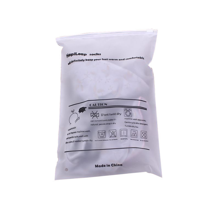 Eco-friendly Custom Printed Frosted Zip Lock Small Plastic packing Bags For Bikini