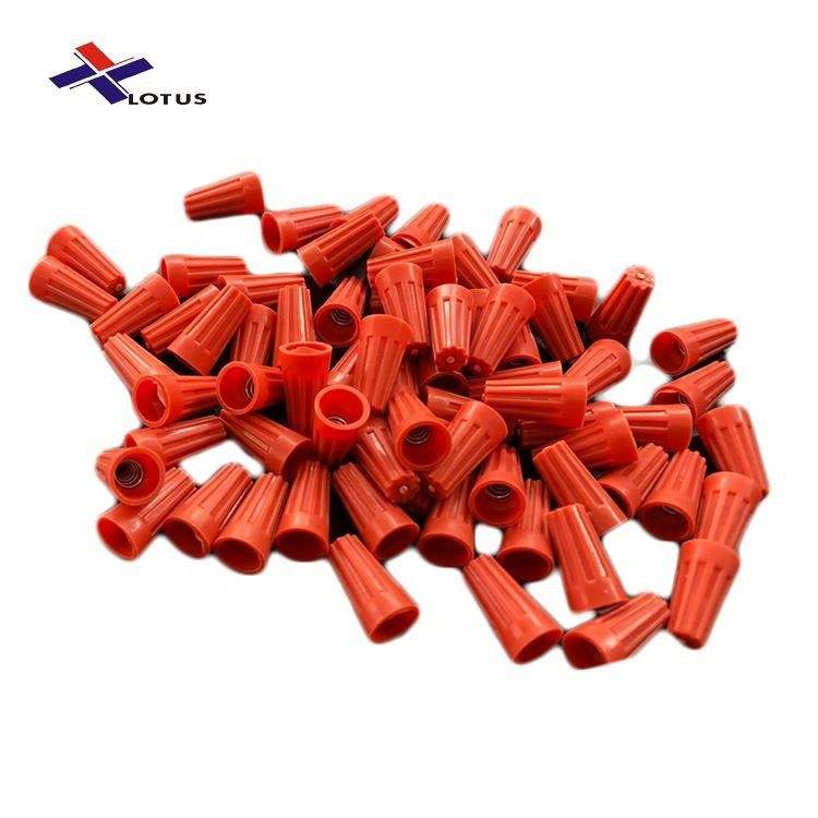 500PCS 22-10 AWG Orange Twist -on PVC spring wire connectors with UL CQC ROSH CE certificated