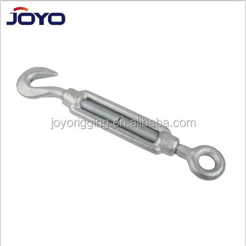 High quality DIN1480 galvanized drop forged eye hook turnbuckle