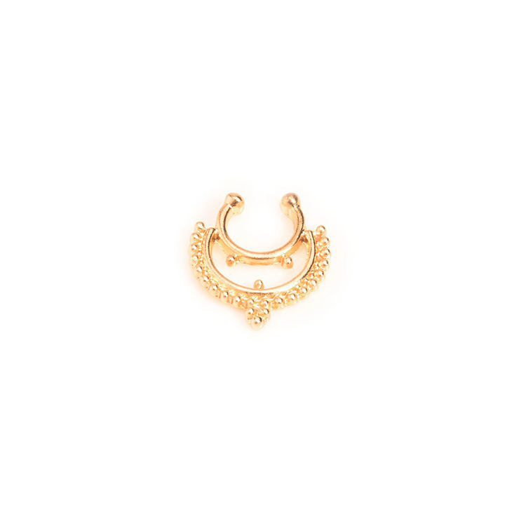 Fashionable Jewelry Vintage Nose Ring China Factory Gold Plated Nose Ring