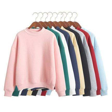 New product 2018 Lady round neck Sweatshirt Fashion girl's Candy colors Casual pullover Factory wholesale price