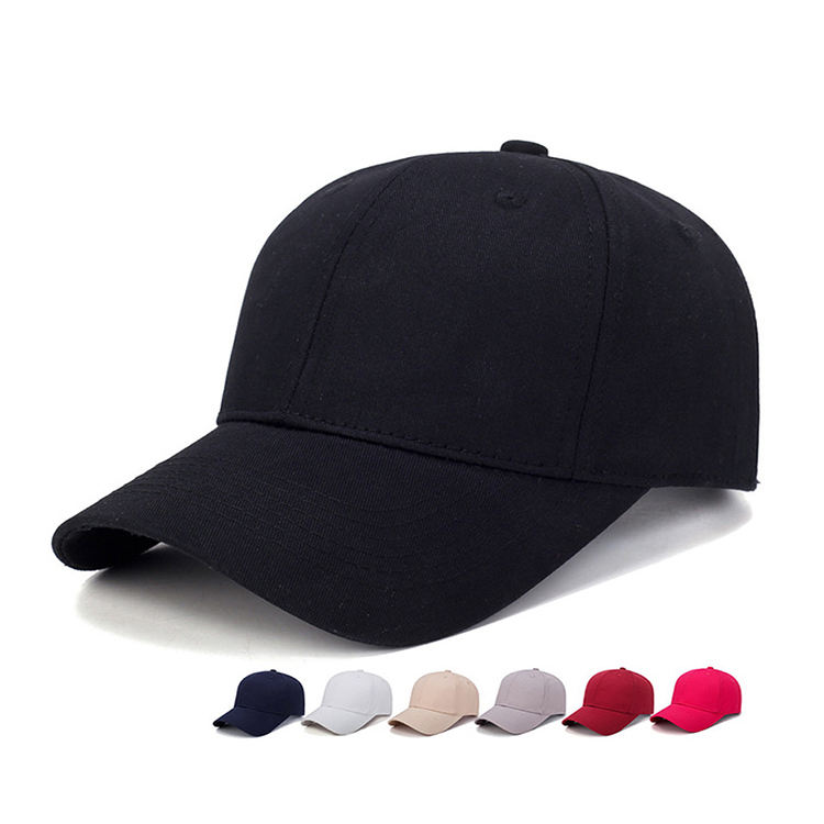 3D Embroidery hat 5/6 Panels Baseball Cap curled brim hat adjustable buckle headwear for man or woman