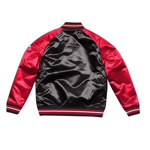 custom oem japanese mens gym black satin athletic bomber baseball basketball jacket without logo