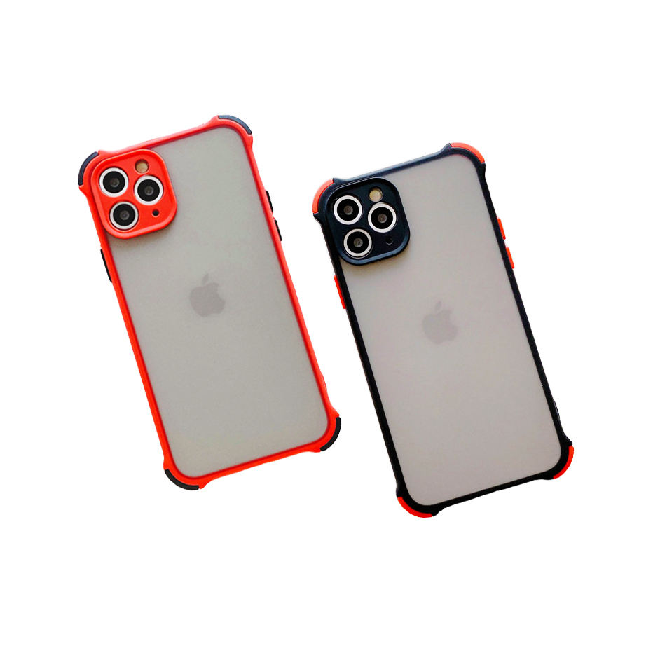 2020 Shockproof Anti-Fall Transparent Matte Phone Case For iPhone 6 6S 7 8 Plus 11 12 Mini X XS XR SE PRO MAX Candy Color Cover