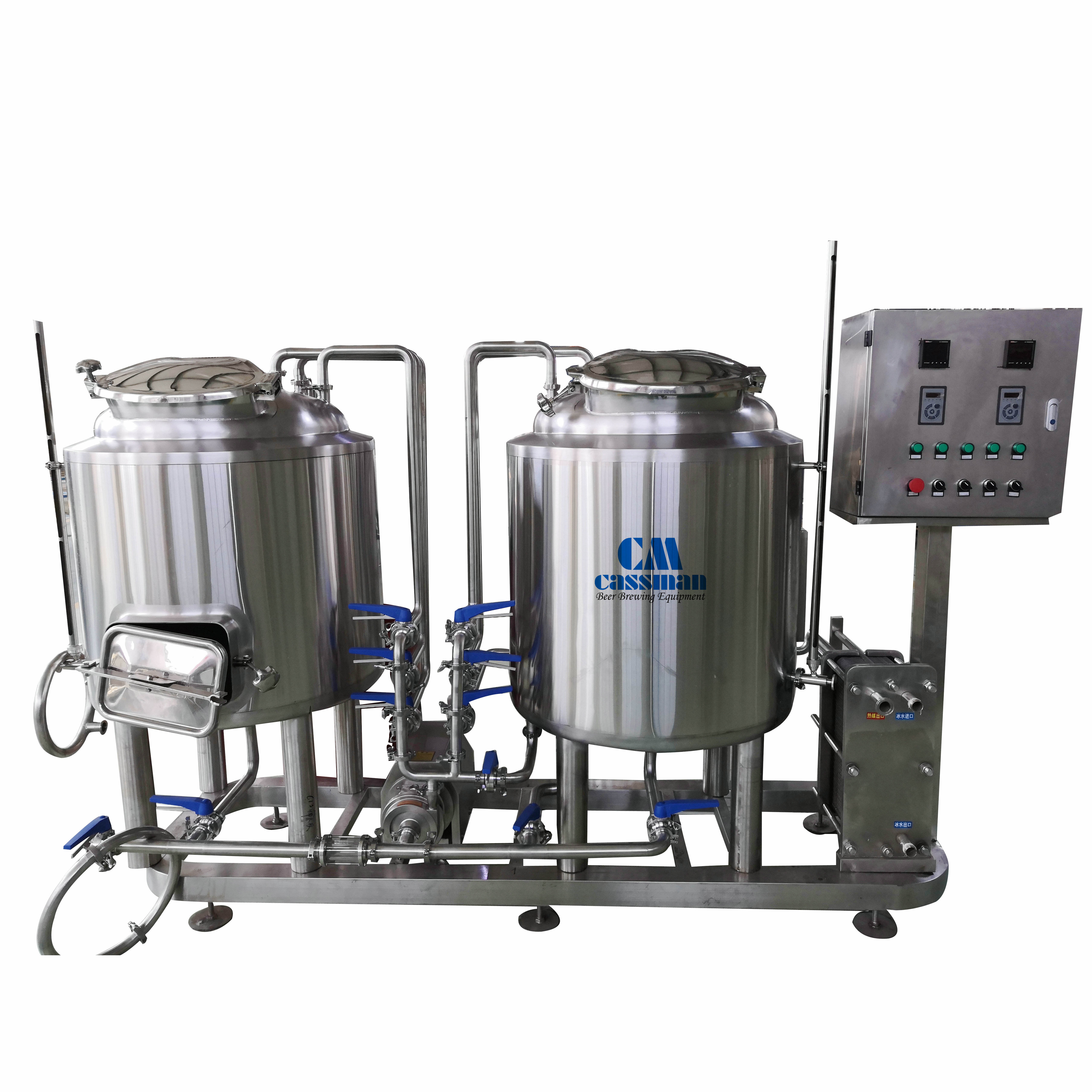 100 Litre Brewing System With Fermentation Vessels and Serving Tanks