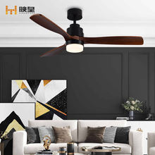 52 inch Solid Wood Remote Control Indoor DC LED Decorative Fan Ceiling Lights with Fans