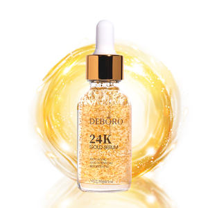 In stock 24K Gold Anti Aging Anti- Wrinkle Brightening Oil Serum Fine Line Reducing Acne Scar facial 24k gold serum dropper