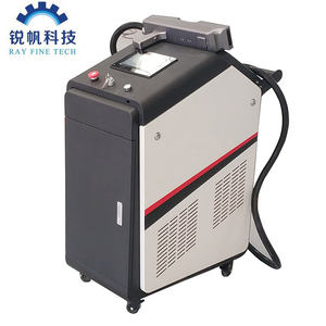 Rayfine 100W 200W 500 Fiber Laser Cleaning Machine for Rust Oil Grease Dust Oxidized Surface