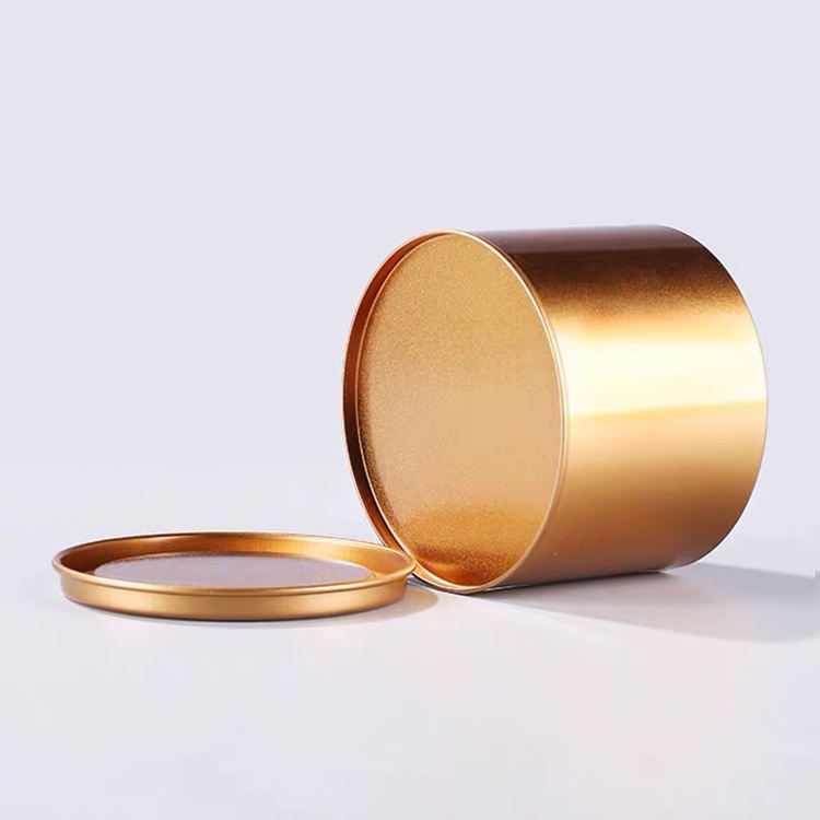 Bulk Rose Gold Color Round Seamless Empty Metal Can 10 oz Candle Tin